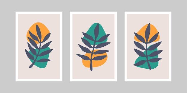 Collection d'impressions d'art mural botanique