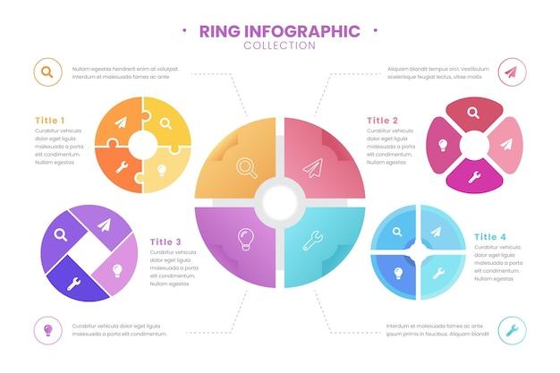 Collection d'infographie en anneau