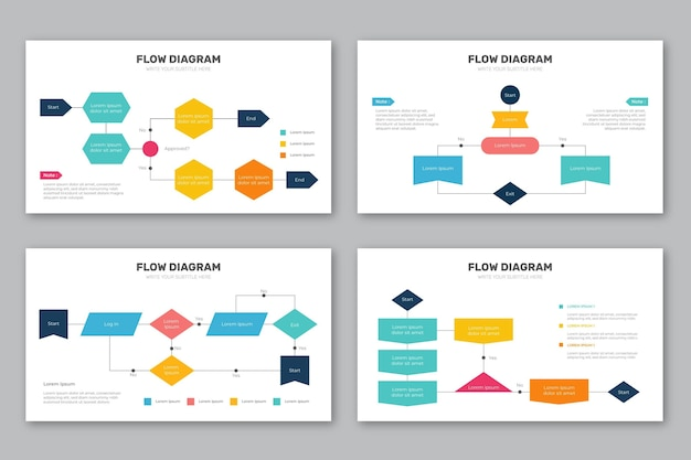Collection d'infographie de diagramme de flux