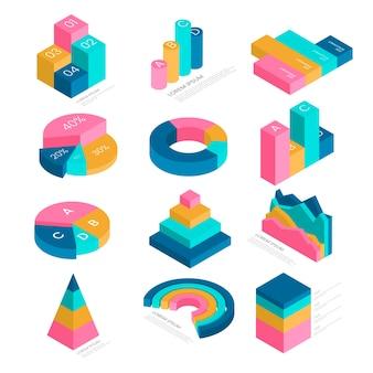 Collection infographique isométrique