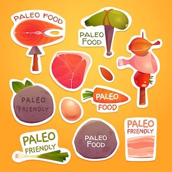 Collection d'ingrédients de régime paléo