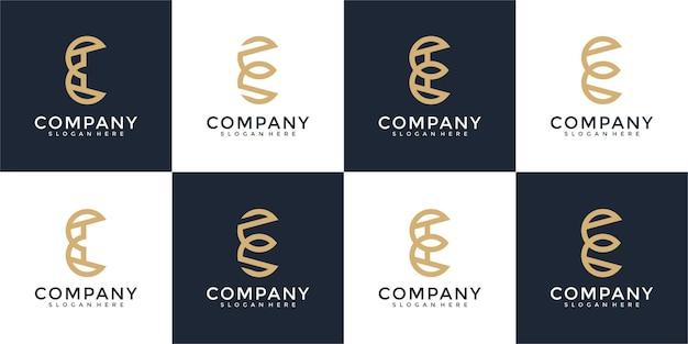Collection initiales e modèle de conception de logo