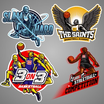 Collection d'insignes de basket