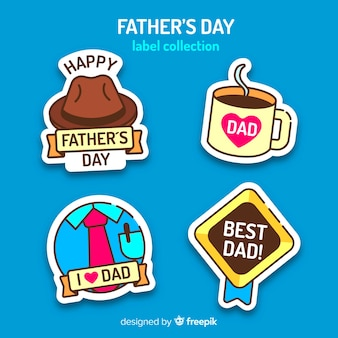 Collection d'insignes de bonne fête des pères