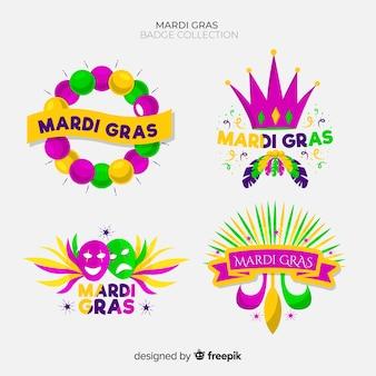 Collection d'insignes de carnaval mardi gras
