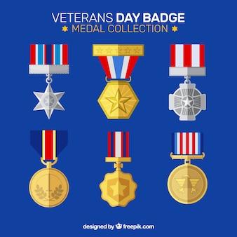 Collection d'insignes du jour des anciens combattants