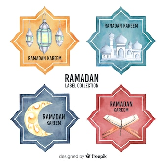 Collection d'insignes du ramadan