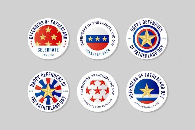 Collection d'insignes de la fête des défenseurs de la patrie