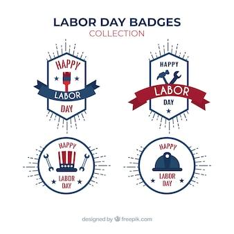 Collection d'insignes de la fête du travail moderne