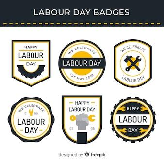 Collection d'insignes de la fête du travail