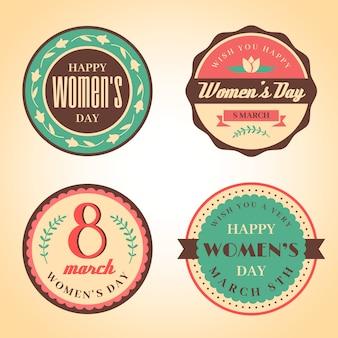 Collection d'insignes de fête des femmes vintage