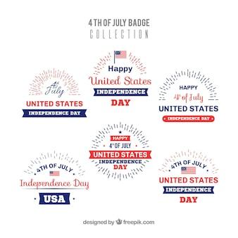 Collection d'insignes de la fête de l'indépendance