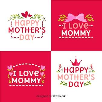 Collection d'insignes de fête des mères