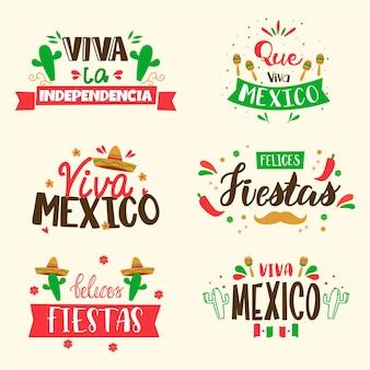 Collection d'insignes de la guerre d'indépendance du mexique