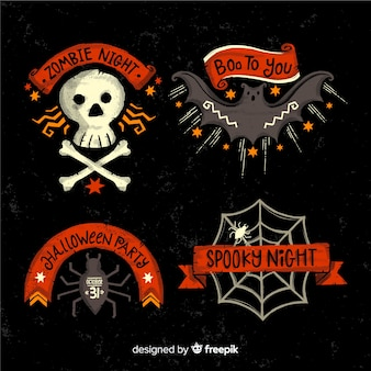 Collection d'insignes halloween spooky