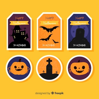 Collection d'insignes halloween