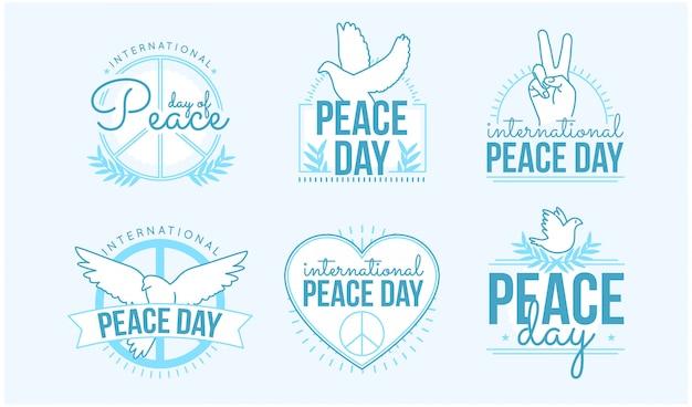 Collection d'insignes de jour de paix