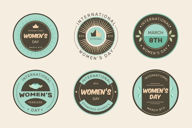 Collection d'insignes de la journée des femmes vintage