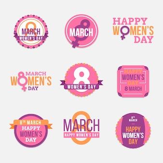 Collection d'insignes de la journée des femmes
