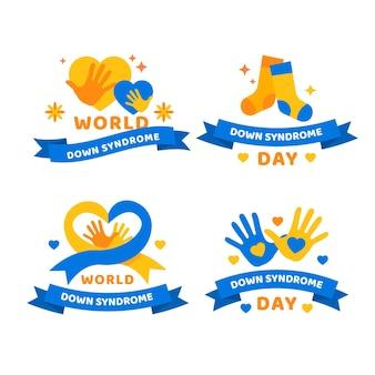 Collection d'insignes de la journée mondiale de la trisomie 21