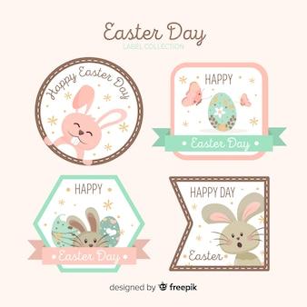 Collection d'insignes de lapin de pâques