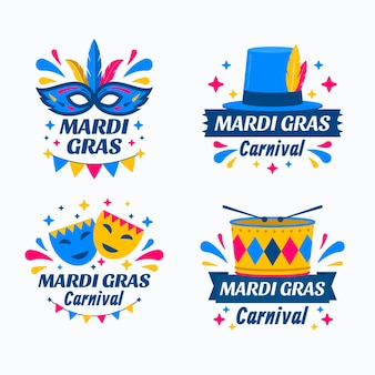 Collection d'insignes de mardi gras