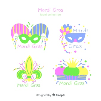Collection d'insignes mardi grass