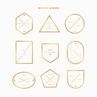 Collection d'insignes d'or minimes