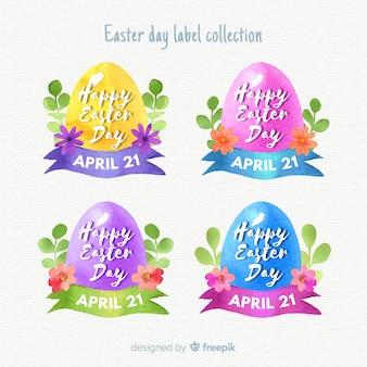 Collection d'insignes de pâques aquarelle