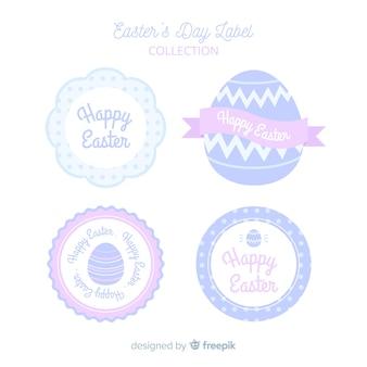 Collection d'insignes de pâques de couleur pastel