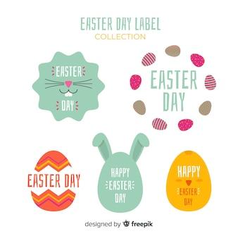 Collection d'insignes de pâques simple