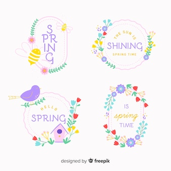 Collection d'insignes de printemps