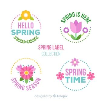 Collection d'insignes de printemps