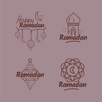Collection d'insignes ramadan