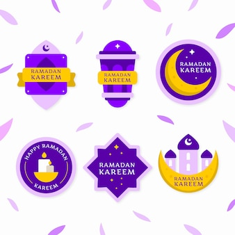 Collection d'insignes ramadan