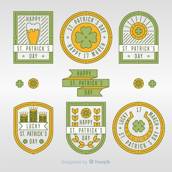 Collection d'insignes saint patrick