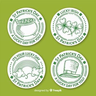 Collection d'insignes saint patrick