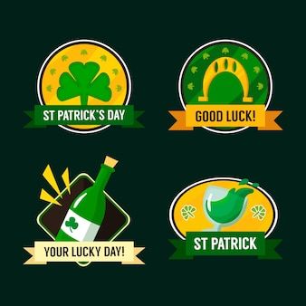 Collection d'insignes de la saint-patrick