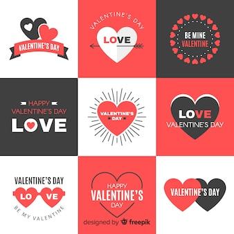 Collection d'insignes de saint valentin
