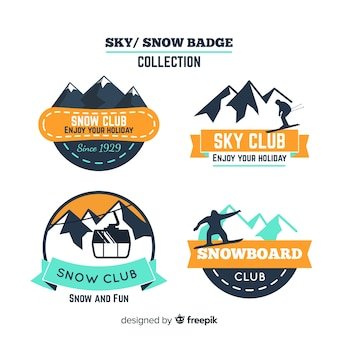 Collection d'insignes de snowboard