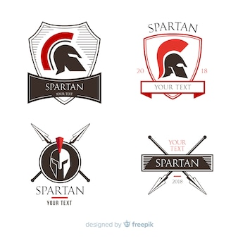 Collection d'insignes spartiates