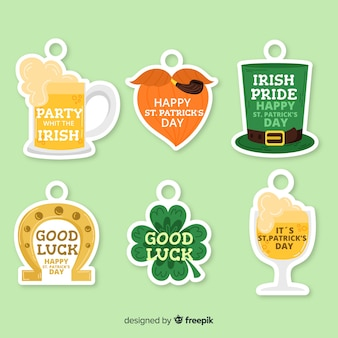 Collection d'insignes st patrick