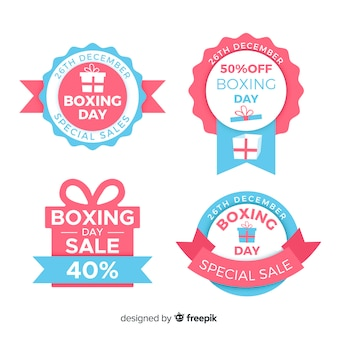 Collection d'insignes de vente de boxe