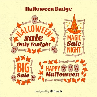 Collection d'insignes de vente d'halloween