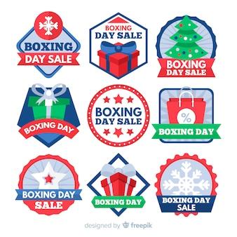 Collection d'insignes de vente le jour de la boxe