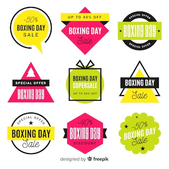 Collection d'insignes de vente le jour de la boxe
