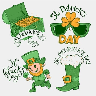 Collection d'insignes vintage st patricks day
