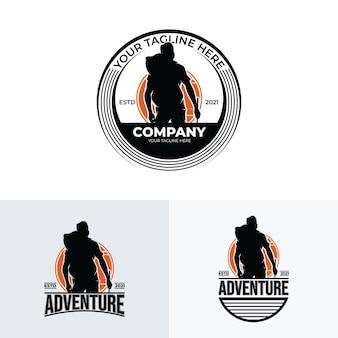 Collection d'inspiration de conception de logo d'aventure