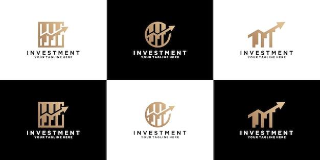 Collection d'inspiration de conception de logo d'investissement et d'entreprise