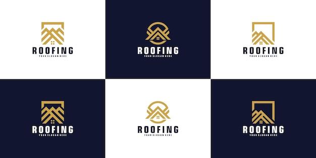 Collection d'inspiration de conception de logo de toit de maison